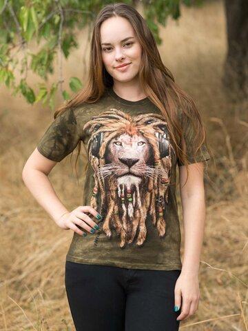 Lifestyle fotó Raszta oroszlán póló