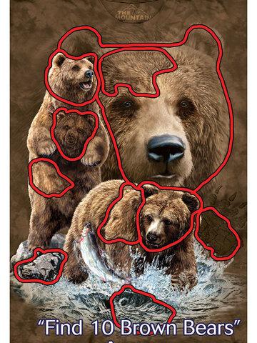 Zľava Tričko Nájdi 10 medveďov