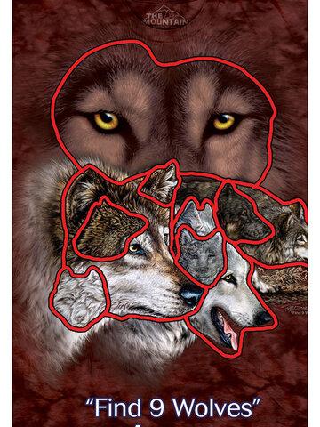 Obrázok produktu Tričko Nájdi 9 vlkov