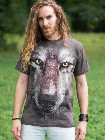 Hľadáte originálny a nezvyčajný darček? Obdarovaného zaručene prekvapí T-shirt Wolf's Face