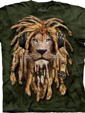 Kiárusítás Raszta oroszlán póló