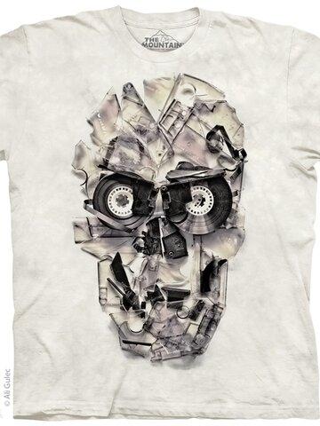 für ein vollkommenes und originelles Outfit T-Shirt  Bänderschädel