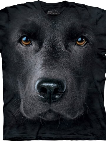 Tip na darček Tričko Tvár čierneho labradora