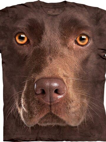 Výnimočný darček od Dedoles Tričko Tvár hnedého labradora - detské