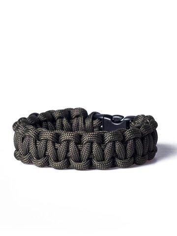Foto Paracord Überleben-Armband dunkelgrün