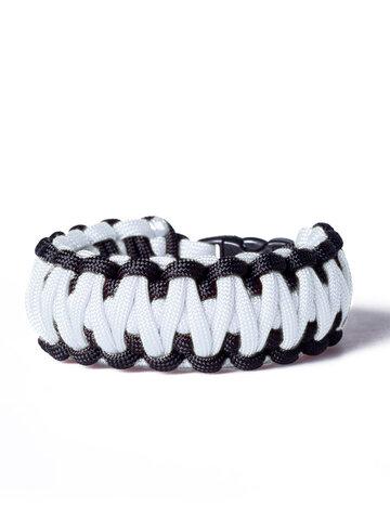 Bereiten Sie sich Freude mit diesem Dedoles-Stück Paracord Überleben-Armband weiß-schwarz