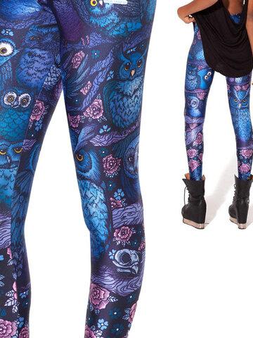 Pre dokonalý a originálny outfit Ženske elastične tajice Noćna sova