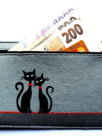 pro dokonalý a originální outfit Peněženka - Dvě kočky