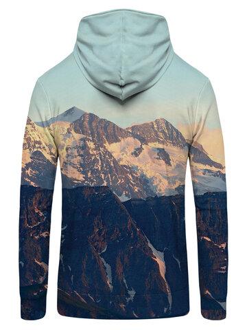 Pre dokonalý a originálny outfit Суичър с цип Слънце в планината