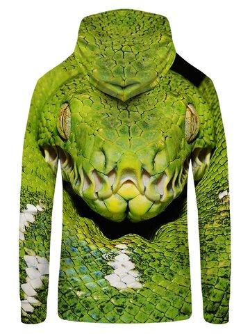 Tip na darček Dukserica s patentom Zelena zmija