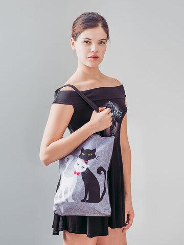 Hledáte originální a neobvyklý dárek? Obdarovaného zaručeně překvapí Taška na rameno Shop - Černá a bílá kočka
