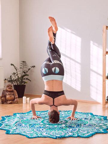 Tip na dárek Dámské sportovní elastické legíny Kočičí úsměv