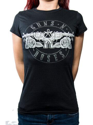 Zľava Ženska majica Guns N' Roses Circle Logo