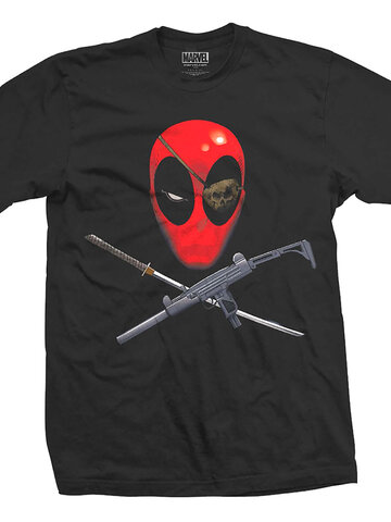Výnimočný darček od Dedoles Tričko Marvel Comics Deadpool Crossbones