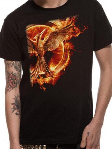 Obrázok produktu Majica Hunger Games - Mockingjay pin flame