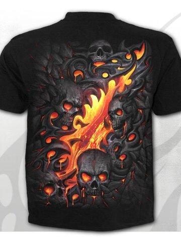 Výpredaj Tričko Skull lava