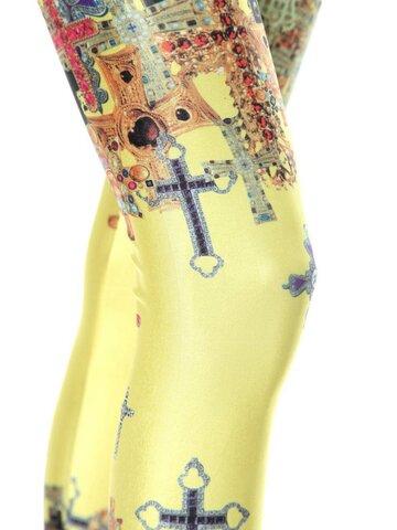 Pre dokonalý a originálny outfit Ženske elastične tajice Šareni križ