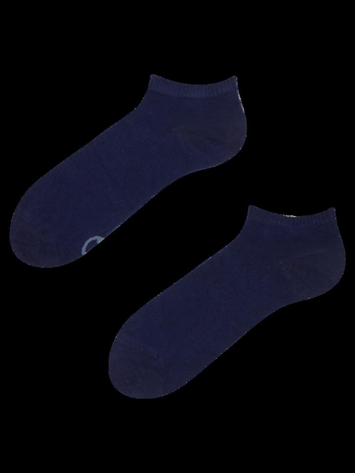 Sale Navy Blue Bamboo Ankle Socks
