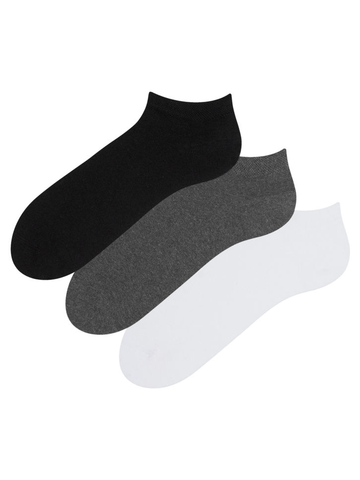 Lifestyle photo Recycled Cotton Ankle Socks 3-pack Classic
