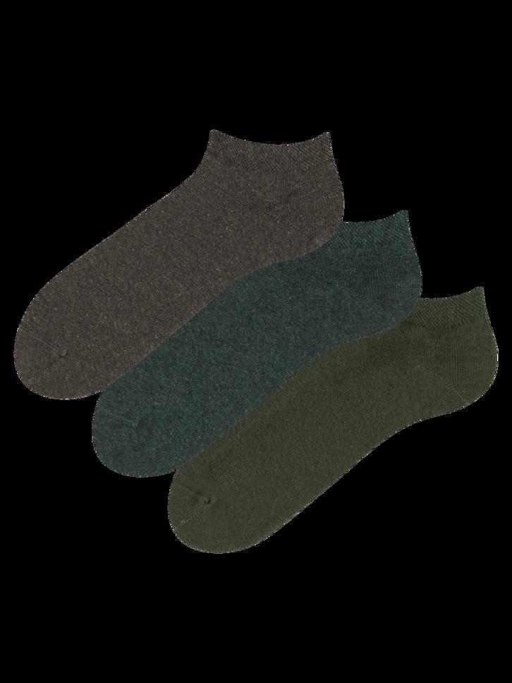 Výprodej Trojbalení kotníkových ponožek z recyklované bavlny Lovec