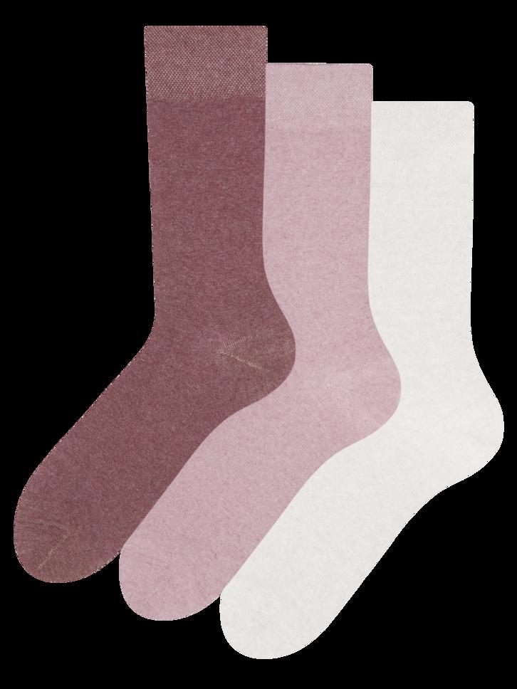 Výnimočný darček od Dedoles Trojbalenie ponožiek z recyklovanej bavlny Optimista