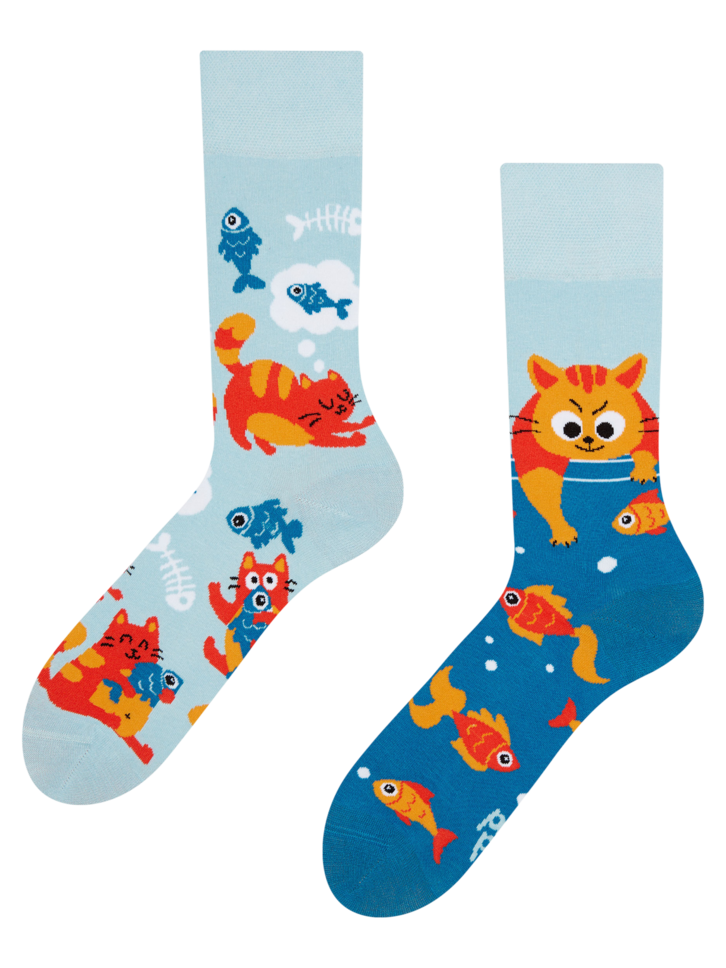 Potešte sa týmto kúskom Dedoles Regular Socks Cat & Fish