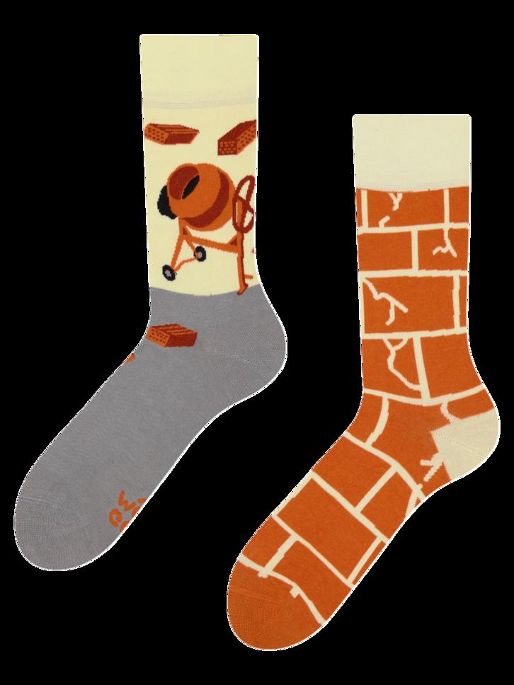Pre dokonalý a originálny outfit Veselé ponožky Stavbár