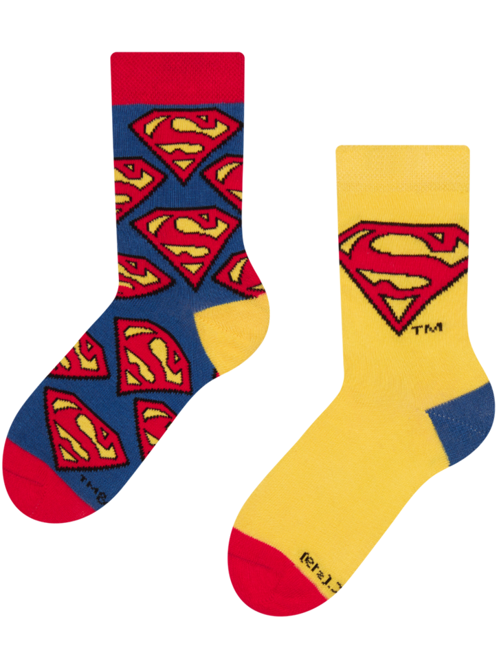 Looking for an original and unusual gift? The gifted person will surely surprise with Superman ™ Kids Socks Logo