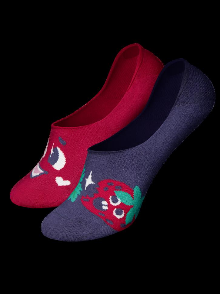 Geschenk von Dedoles Lustige No-Show-Socken Glückliche Erdbeeren