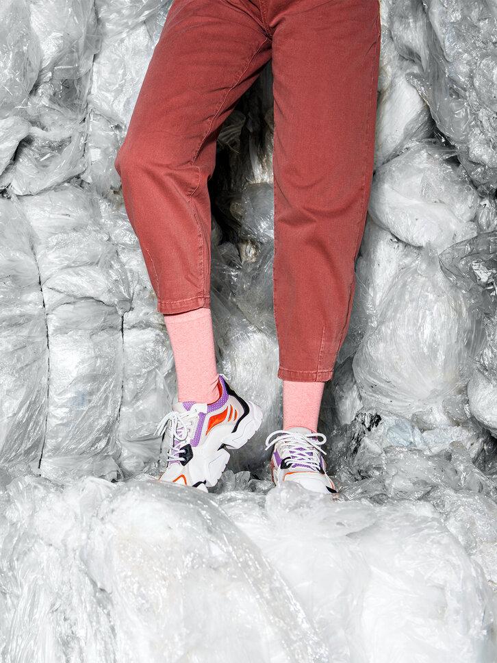 Výnimočný darček od Dedoles Ponožky z recyklovanej bavlny Broskyňa