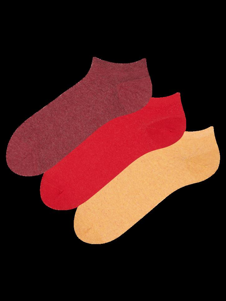 Obrázok produktu Paket 3 parov kratkih nogavic iz recikliranega bombaža Družaben