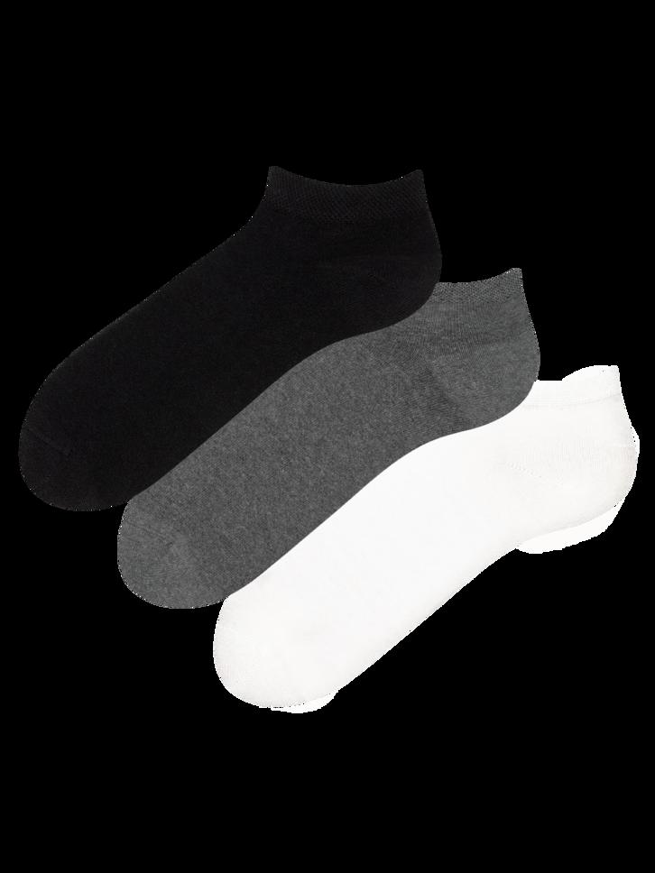 Indicație pentru cadou Pachet de 3 Perechi de Șosete sub Gleznă din Bumbac Reciclat Clasic