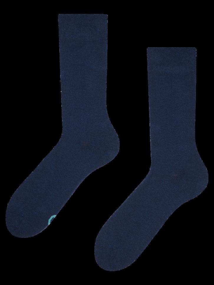 Pre dokonalý a originálny outfit Tamnoplave čarape od recikliranog pamuka