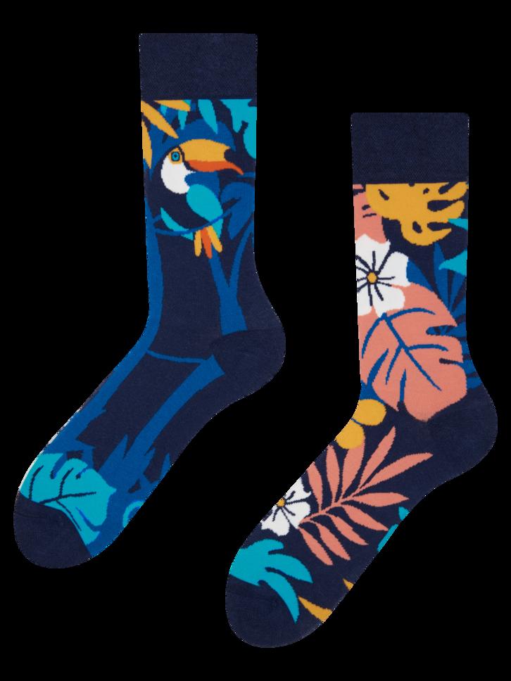 Tip na darček Veselé ponožky Tropický tukan