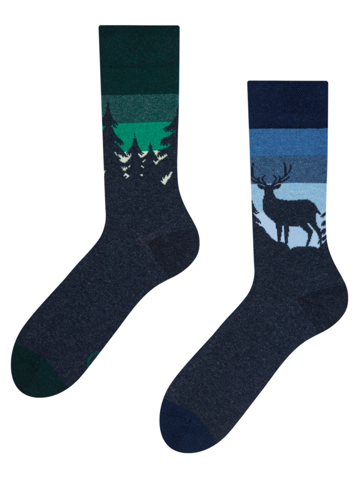 Zľava Vesele čarape od recikliranog pamuka Noćna šuma