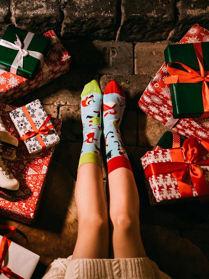 Lifestyle-Foto Lustige Socken Winter