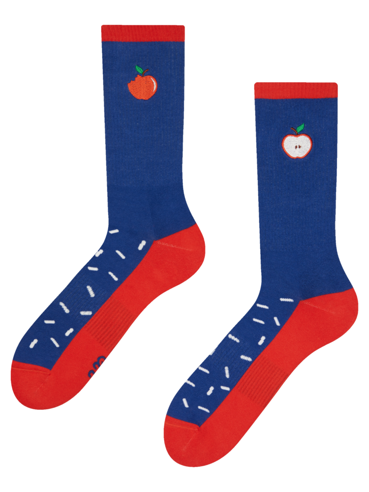 Sleva Veselé sportovní ponožky Jablko s posypem