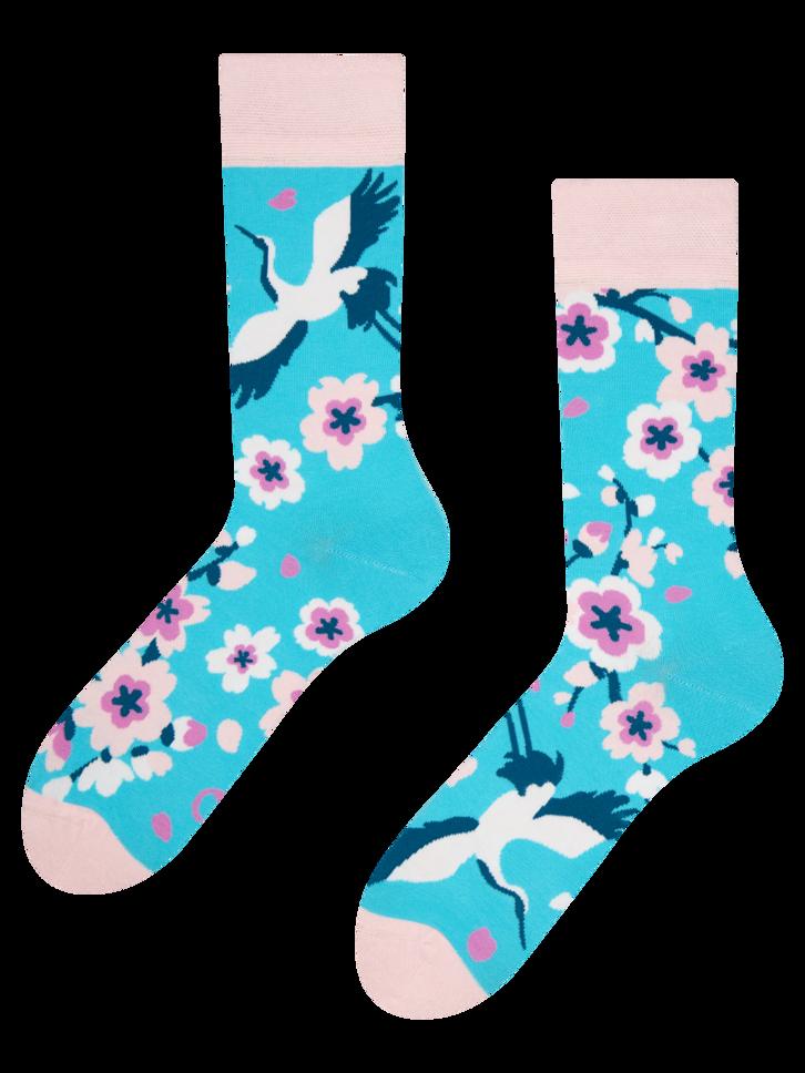 Lifestyle foto Chaussettes rigolotes Sakura et Héron