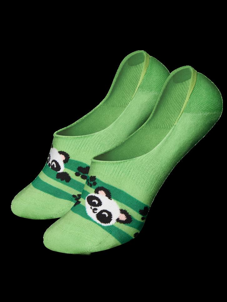 Obrázok produktu Živahne skrite nizke nogavice Panda in črte