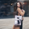 Pre dokonalý a originálny outfit Shop Shoulder Bag - Black and White Cat