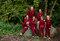 Tip na darček Červený károvaný pyžamový overal Medvedie zadočky