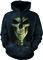 Rabatt Sweatshirt mit Kapuze Gesicht des Todes