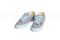 pro dokonalý a originální outfit Dámské plátěné tenisky z konopí šedo-modré