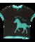 Lifestyle foto Dámske tričko na spanie Koňské stádo