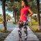Pre dokonalý a originálny outfit Ladies' Sport Mesh Leggings - Romantic Flowers