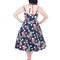 Looking for an original and unusual gift? The gifted person will surely surprise with Blue Dotted Retro Pin Up Dress Red Flowers