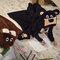 Lifestyle foto Detská deka s kapucňou Medveď