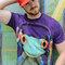 Rabatt T-Shirt Frosch mit Kopfhörern