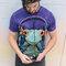 für ein vollkommenes und originelles Outfit T-Shirt Frosch mit Kopfhörern