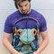 Geschenk von Dedoles T-Shirt Frosch mit Kopfhörern